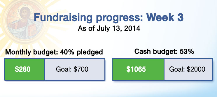 Fundraising progress week 3